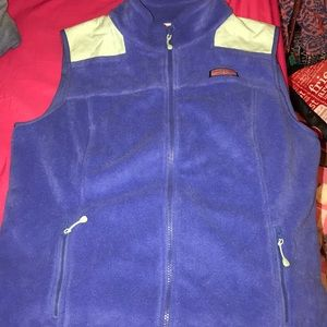 Vineyard Vines Blue Fleece Vest
